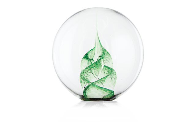 green-paperweight