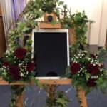 decorated easel
